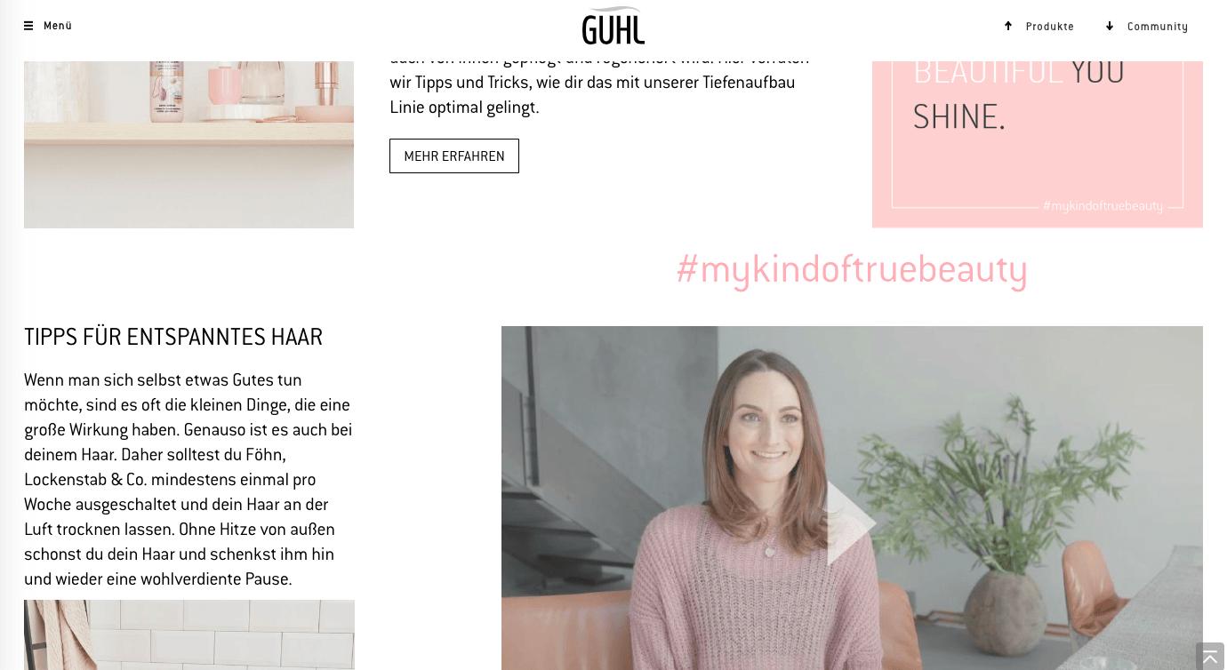 Jana für Guhl Kampagne 2019